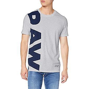 G-STAR RAW Graphic 12 Slim Rund Hals T-Shirt, Grå (Lt Grey Htr A302), XX-Small Men