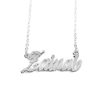 """L Zainab - 18-karaats witgouden vergulde ketting, met aanpasbare naam, 16""""- 19"""" verstelbare ketting, in ref pack. 496330314391"""