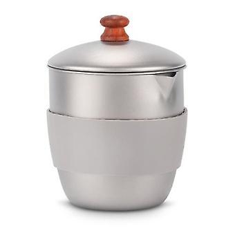 300ml Outdoor Camping Titanium Teapot Kettle Tea Maker avec infuser