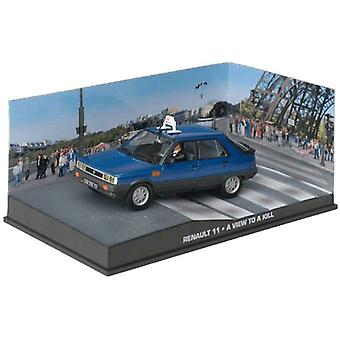 Renault 11 de James Bond en azul (escala 1:43 por Ex Mag DY053)