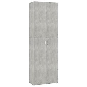 vidaXL Kantoorkabinet BetonGrijs 60×32×190 cm Spaanplaat