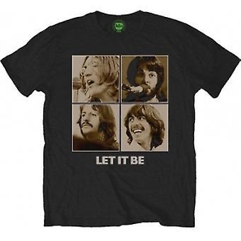 The Beatles - Let It Be Sepia Men's Medium T-Shirt - Noir