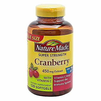 Nature Made Super Strength Cranberry with Vitamin C, 450 mg, 120 Softgels
