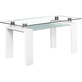 """Mesa comedor """"Eva"""" - 150x80x75cm - Blanco lacado"""