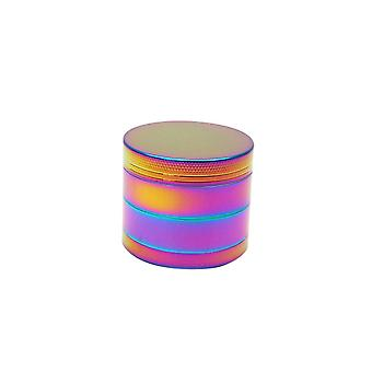 Spice Herb Grinder, Zinc Smoke Grinder Rainbow Flat Grinder Smoke Crusher(50mm)