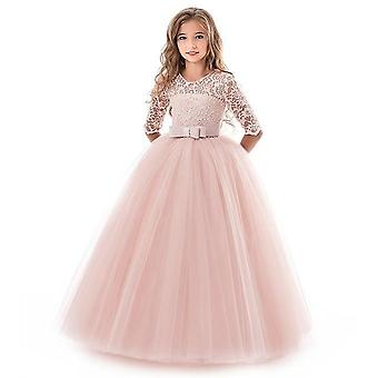 Wedding Party Formal Ball Gown And Embroidery Dresses For Girls