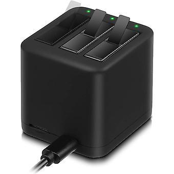 Batterie (2er-Pack) & Schnell-Ladestation mit 3 Kanälen für Insta360 ONE X PL903135VT-S01
