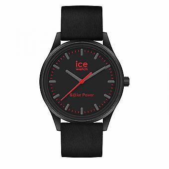 Reloj de hombre Reloj de hielo Reloj de hielo Relojes de energía solar - Lava - Medio - 3H 019027 - Silicone Strap Black
