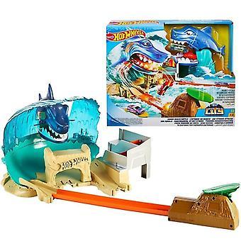 ホットホイールシティシリーズシャークビーチバトルプレイセットキッドトラックおもちゃ