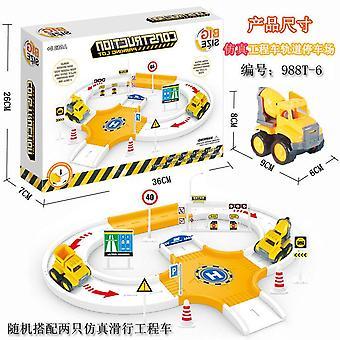 Children's engineering voertuig track parkeerplaats speelgoed