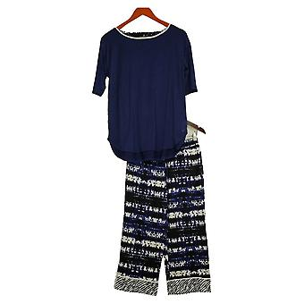 Cuddl Duds Women's Cool & Airy Printed Pajama Set Blue A373980