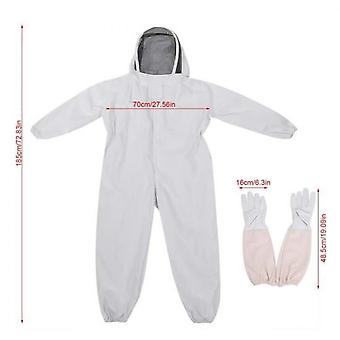 Bee Beekeeping Costume With Anti Bee Gloves Fac Protection Xl Code