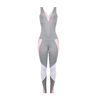 Gym Yoga- Jogging Back Cutout, Crossover Fitness Suit