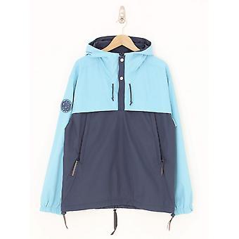 Pretty Green Tilby Colour Block Overhead Jacket - Blue