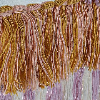 Hengende dekorasjon DKD Home Decor Jute Bomullsull (46 x 2 x 110 cm)