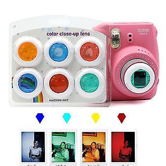 6 Färgglada videokamera när-upp linsfilter