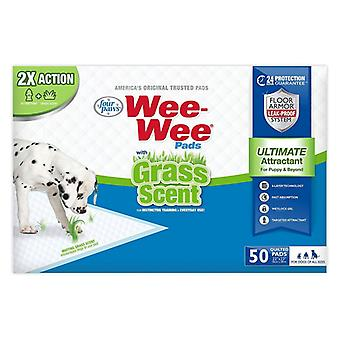 Four Paws Wee Wee Grass Scented Puppy Pads - 50 count