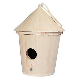 Ronde 17cm Hoog Houten Birdhouse of Bird Box voor Ambachten
