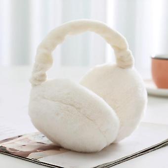 Chrániče sluchu Zimní ženy Dívky Ušní ohřívač Načechraný fleecový látkový kryt sluchu Termální chrániče sluchu (bílá)