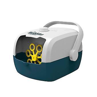 מזוודה חדשה אוטומטית מכונת בועה מסיבת חתונה שלב לחיצה אחת בועה (כחול לבן)