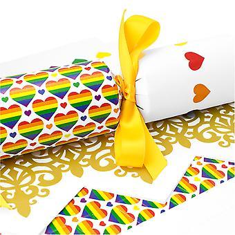 10 Large Pride Hearts Cracker - Machen und füllen Sie Ihr eigenes Kit ohne Bänder