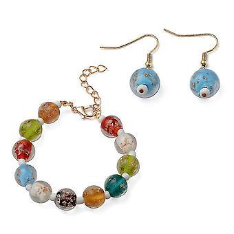 TJC Beaded, Drop Dangle Smykker Sæt til Kvinder Flere Murano Glass 0,004ct