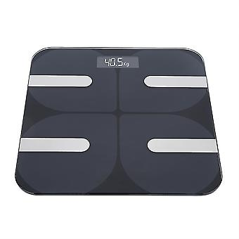 180Kg digitale lcd Haushalt intelligente Körperfettwaage elektronische Waage schwarz für zu Hause Unterstützung 13