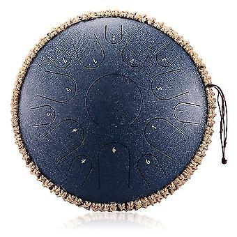 Nouveau tambour à langue en acier 14 pouces 15 tons tambour de réservoir portatif tambour percussion instruments de yoga méditation