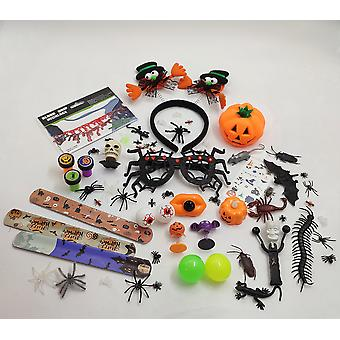 Halloween Party Gift Toy Ornament Set A Spider Skull Pumpkin Bag Toy New