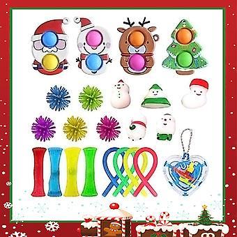 Push Pop Fidget Toy Bubble Sensory Toy Set Stress Relief Cadeau de Noël