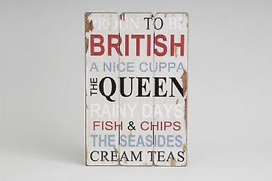 British/Queen Sign Wall Decorative