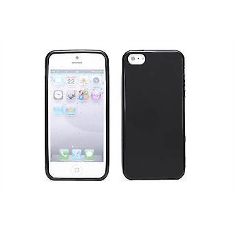 Crystal Gel fall täcka för Apple iPhone 5 5S SE - svart