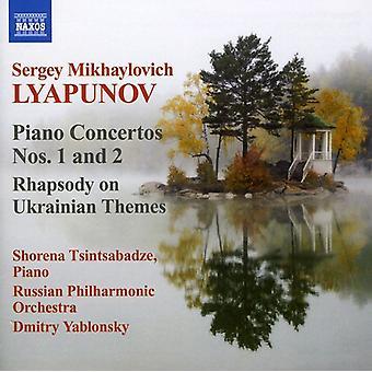 S.M. Lyapunov - Sergey Lyapunov: Piano Concertos Nos. 1 & 2; Rhapsody on Ukrainian Themes [CD] USA import