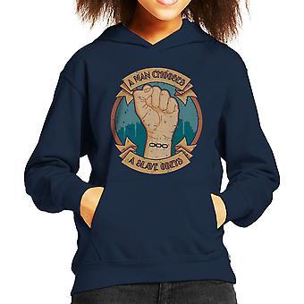 A Man Chooses A Slave Obeys Bioshock Kid's Hooded Sweatshirt
