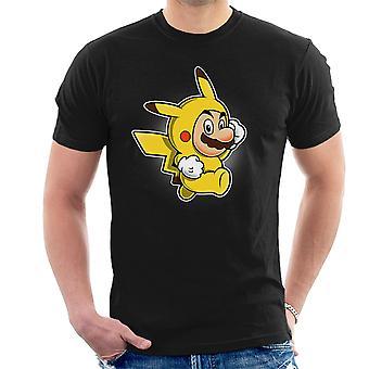 Pika Suit Super Mario Pikachu Pokemon Men's T-Shirt