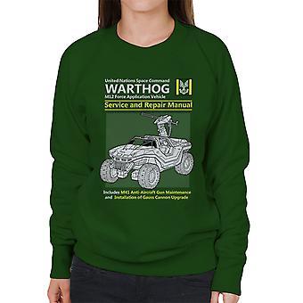 Halo Warthog Service en reparatie handleiding vrouwen Sweatshirt