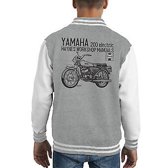 Varsity Jacket de Haynes propriétaires atelier manuel Yamaha 200 électrique Kid