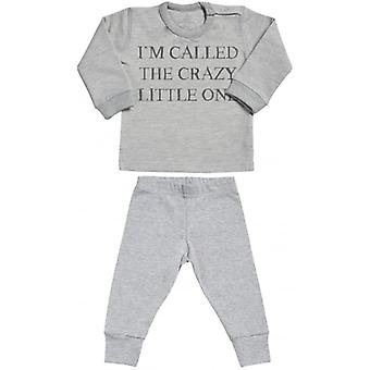 Spoilt Rotten I'm Called The Crazy One Sweatshirt & Jersey Trousers Baby Outfit Set