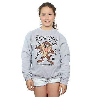 Looney Tunes Girls Vintage Tasmanian Devil Sweatshirt