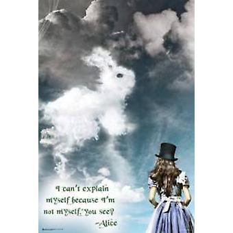 Alice In Wonderland illuusioita juliste Juliste Tulosta
