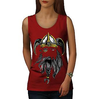 North Warrior Axe Women RedTank Top | Wellcoda