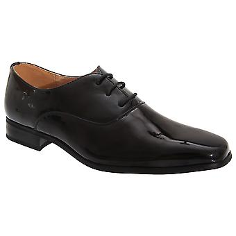 Goor Older Boys Patent Leather Lace-Up Oxford Tie Dress Shoes