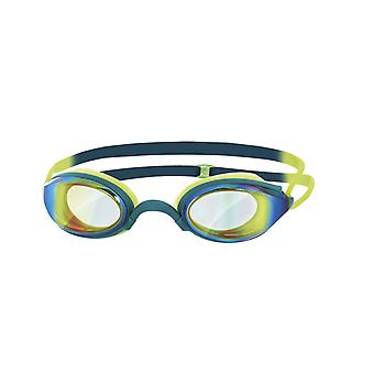 Zoggs Fusion Air Mirror Adult Swim Goggle - Mirrored Lens - Deep Green/Lime