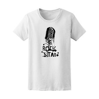 Vintage rockestjerne og mikrofon Tee menn-bilde av Shutterstock