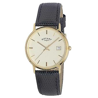 Rotary Mens 9ct Gold Case Precious Metals GS11476/03 Watch