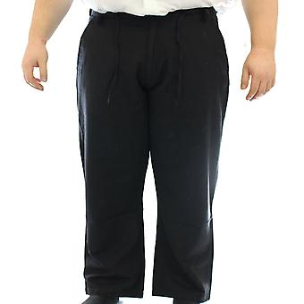 Ed Baxter Casual Cotton Linen Mix Trousers