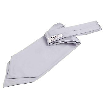 Planície de prata cetim Self amarra casamento Cravat