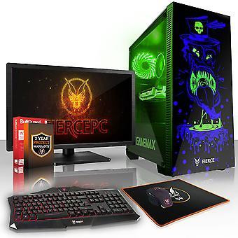 Felle GOBBLER Gaming PC, snelle Intel Core i7 7700 4,2 GHz, 2TB SSHD, 16GB RAM, GTX 1660 6GB