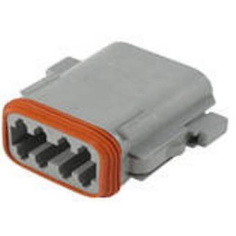 TE Connectivity DT06 08SA P012 Bullet liitin liitin, suora sarja (liittimet): DT yhteensä nastojen määrä: 8 1 PCs()