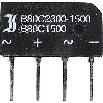 Diotec B40C1500B Diode bro SIL 4 80 V 2.3 A 1-faset